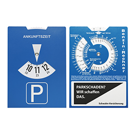 Carton-parking disc